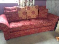 Vineys large 3 seater sofa x2