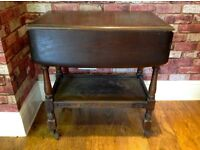 VINTAGE PRIORTY TEA TROLLEY WITH FOLDING SIDES AND HIDDEN CUTLERY DRAW