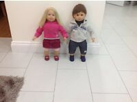 Sally and Sam Dolls