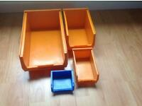 Stacking Storage Boxes 156 available starting from £0.50 to £1.30