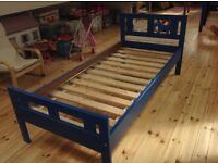Blue idea junior bed with side rail Immaculate condition