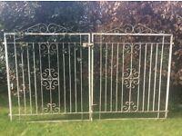 Pair of matching vintage drive gates