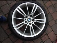 """BMW 18""""ALLOYS AND RUN FLAT TYRES"""