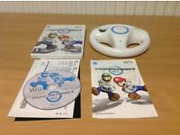 NINTENDO WII MARIO KART WITH OFFICIAL STEERING