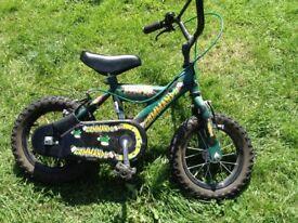 "Boys 12"" commando bike with stabilisers"