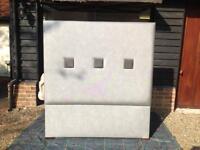 Designer custom made double padded head board