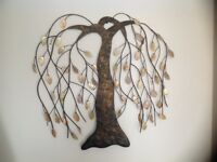 Autumn wall hanging tree