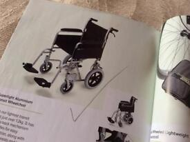COLLAPSIBLE TRANSIT WHEELCHAIR WITH BAG AS NEW