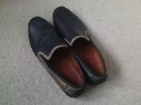 Mens Pikolinos Slip On Shoes, Leather, Navy & Taupe, Hardly Worn 11/45