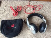 Silver Metal Over Ear Pro Beat By Dr. Dre Headphones