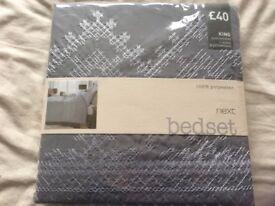 Brand new Kingsize duvet cover set from next