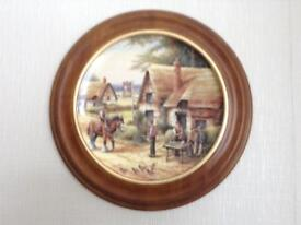 Bradford Exchange authentic wall plates a set of five