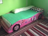 CAR BED FRAME SINGLE SIZE IN PINK