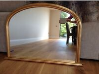 Gold over mantle mirror in excellent condition