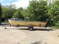 17ft O Sullivan lake boat and 5hp Yamaha engine