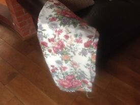 Two pairs floral curtains
