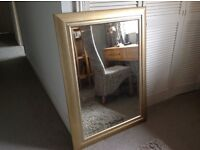 Beautiful mirror, subtle gold/silver glaze frame, bevelled glass, perfect condition.