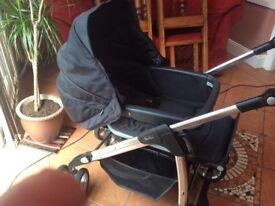 Black silver cross pram/stroller travel system REDUCED £120