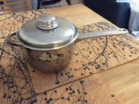 Kitchen pot with lid 17cm wide 11cm high