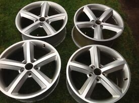 "Audi 18"" alloy wheels, genuine from manufacturer"