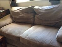 3 seater. Settee mink colour,