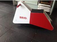 Brio sit on rocker toy wooden red/white
