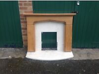 FREE. Wooden fire surround marble back and base