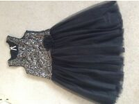 Girls sequin/tafetta dress, age 12