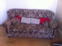 Sofa suite - sofa and two chairs. Pick up only.