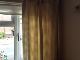 "Stylish Curtains, Cream, Fully lined 90"" drop X 64"" width"