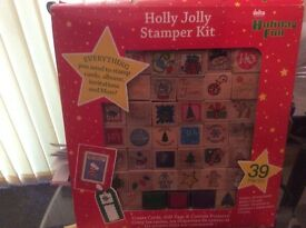 Holly jolly stamper kit