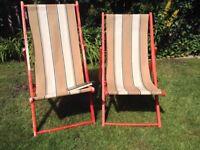 Vintage deckchairs, shabby chic!