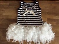 Girls Striped Party Dress Size 2-3 Years