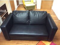 BRANDNEW!! Never used faux black leather 2 seater couch