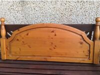 Antique Pine Headboard to fit a double bed