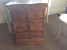 Wooden Chest of Drawers six Drawers