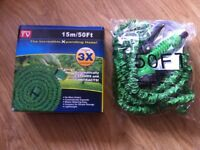 50Ft Expanding Garden Hose Pipe With Sprayer - Never used -