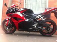 2012 CBR600RR with Two Brothers Exhaust system. Black and Red, Crash mushroom, Heated Grips.