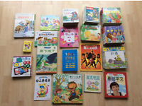 Bundle of 125 Chinese books with Pinyin for Children