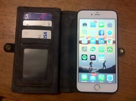 iPhone 6s Plus 64gb with 2 magnetic wallets (unlocked)