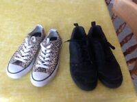 Converse pumps and Nike trainers
