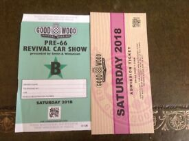 2X GOODWOOD REVIVAL SATURDAY TICKETS AND PRE 1966 PARKING TICKET *SOLD OUT*