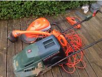 2 lawnmowers and a strimmer for sale