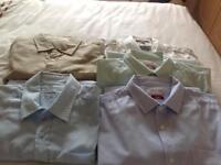 5 X men's large short sleeved shirts