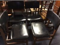 Set of 4 retro leather look dining chairs £20