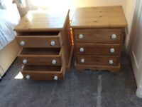 2 Chest Of Drawers, Small, Pine.