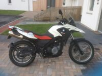 BMW G650 GS ADVENTURE MOTORBIKE. White 6520 miles in excellent condition 2011(61)