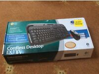 Logitech Cordless Keyboard & Mouse EX110 Brand New In Box