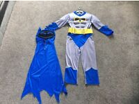 Dressing up costume Batman in a size 5-6 years in good condition (a few pulls from the Velcro)
