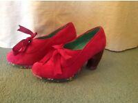 Irregular Choice pink heeled shoes. Size 3